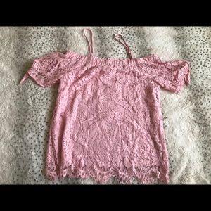 Lace off shoulder blouse